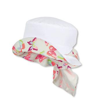 Sterntaler Mädchen Hut mit Nackenschutz weiss