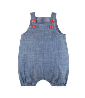 Pure Pure Baby Latzhose jeans-blau