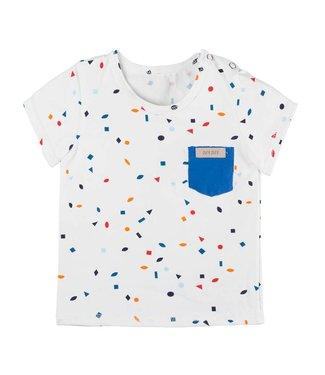 Pure Pure Baby T-Shirt weiss bunte Rauten