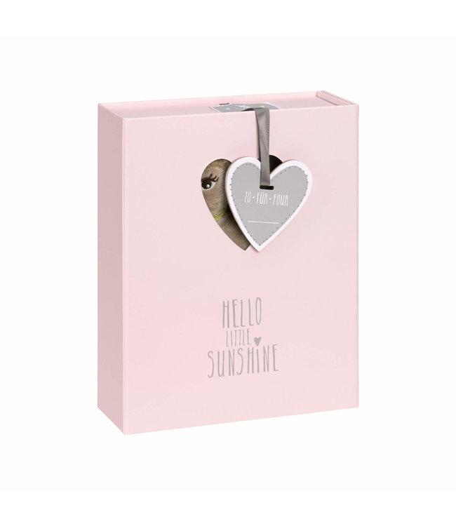 Lässig Baby Welcome Geschenkbox Lela light pink