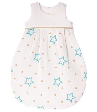 Zewi bébé-jou Schlafsack white stars & points