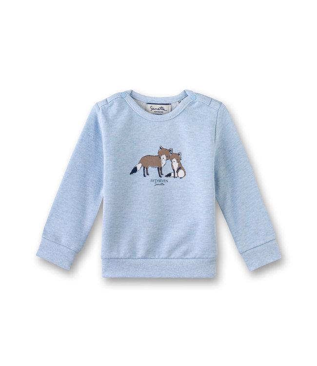 Sanetta Fiftyseven Baby Jungen Sweatshirt Fuchs blau