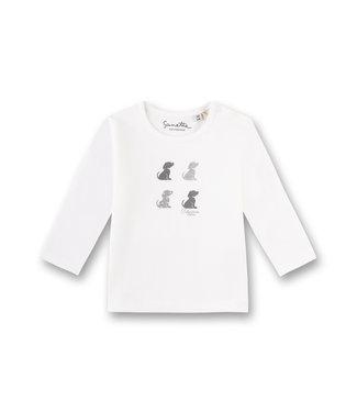 Sanetta Fiftyseven Baby Shirt Hunde weiss