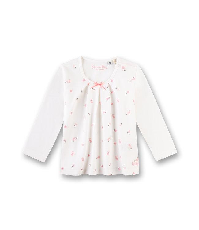 Sanetta Fiftyseven Baby Mädchen-Shirt langarm Rosen