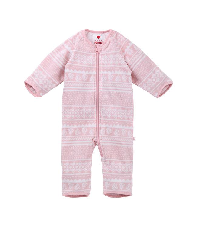 Reima Baby Fleeceoverall Laulu powder pink