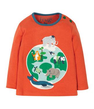 Frugi Kleinkinder Shirt Bobby Paprika/Globe