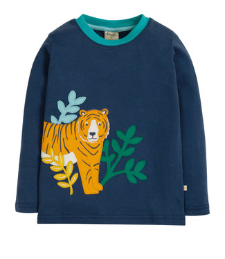 Frugi Jungen Shirt Space Blue/Tiger