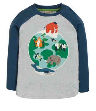 Frugi Jungen Shirt Alfie Grey Marl/Globe