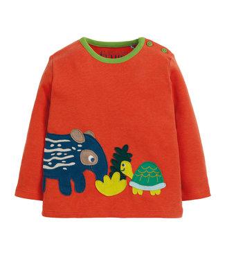 Frugi Kleinkinder Shirt Paprika/Tapir