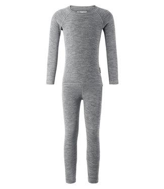 Reima Wolle Kinder Unterwäsche Set Kinsei melange grey