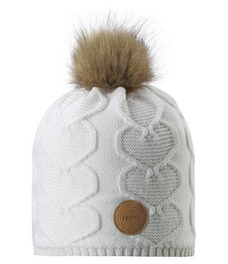 Reima Kinder Wollmütze Knitt white