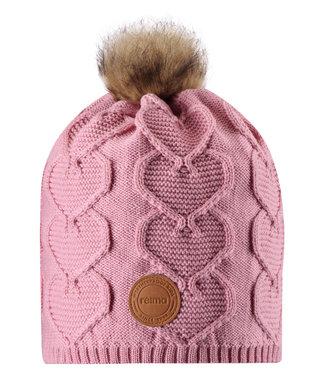 Reima Kinder Wollmütze Knitt soft rose pink