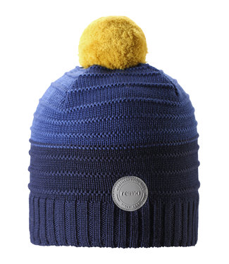 Reima Kinder Wollmütze Knitt Aapa navy