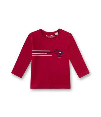 Sanetta Fiftyseven Baby Jungen Shirt Flugzeug rot