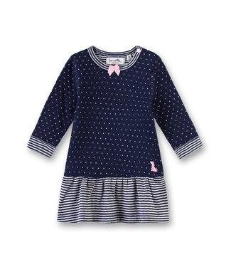 Sanetta Fiftyseven Baby Mädchen Kleid dunkelblau