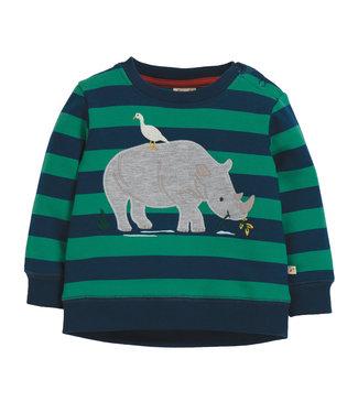Frugi Kleinkinder Pullover Stripe/Rhino