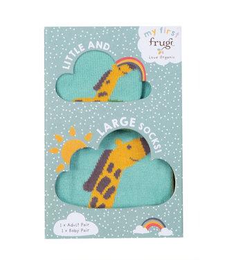 Frugi Socken für Kleinkinder und Erwachsene Giraffe