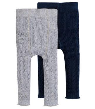 Frugi Mädchen Leggings 2er Pack grey/blue