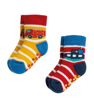 Frugi Kleinkinder Socken 2er Grippy Transport