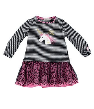Bondi Kleinkinder Kleid geringelt Einhorn
