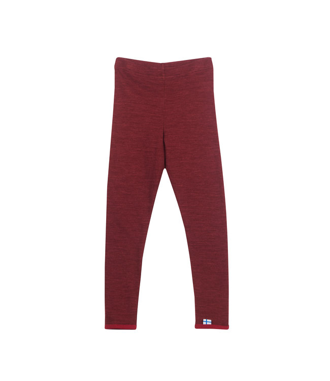 Finkid Leikki Wool Leggings cabarnet/persian red