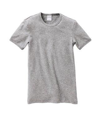 Schiesser Jungen Shirt kurzarm grau-melange Modern Rib
