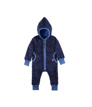 Pure Pure Baby Overall Plüsch nautic blue