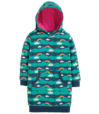 Frugi Kinder Hoody Kleid Harriet Clouds