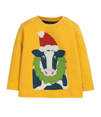 Frugi Kleinkinder Shirt Weihnachts Kuh