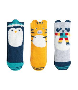 Frugi Kleinkinder Socken 3er Box cosy creatures