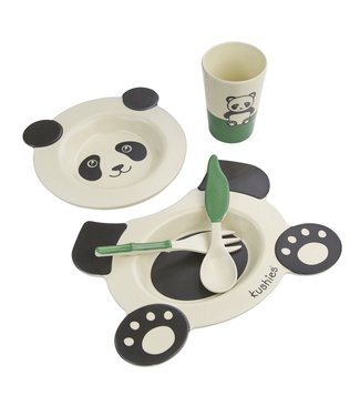 Kushies Geschirrset 5-teilig Panda