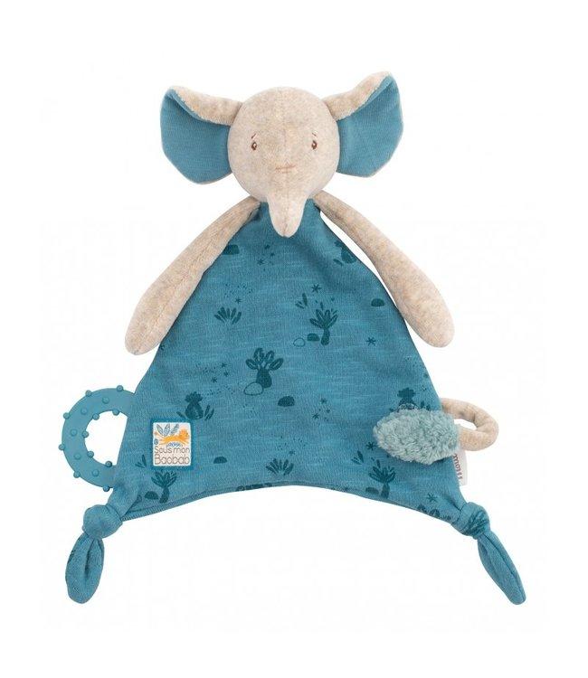 Moulin Roty Kuscheltuch mit Nuggihalter Elefant