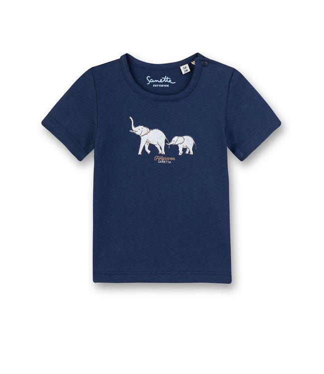 Sanetta Fiftyseven Baby Jungen T-Shirt Elefant navy