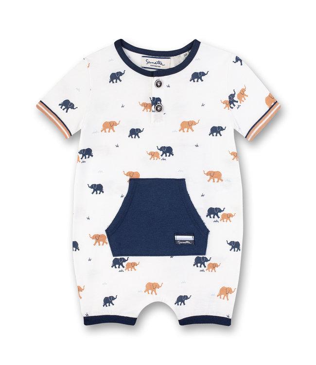 Sanetta Fiftyseven Baby Jungen Strampler Elefant