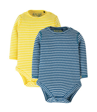 Frugi Baby Body 2er Pack Pointelle