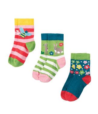 Frugi Kleinkinder Socken 3er Pack Hirsch