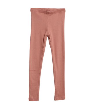 Wheat Mädchen Rib Leggings soft peach rose