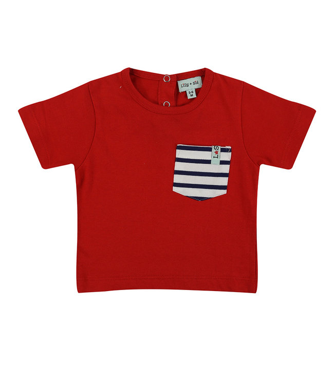 Lilly and Sid Kleinkinder T-Shirt Stripe Pocket