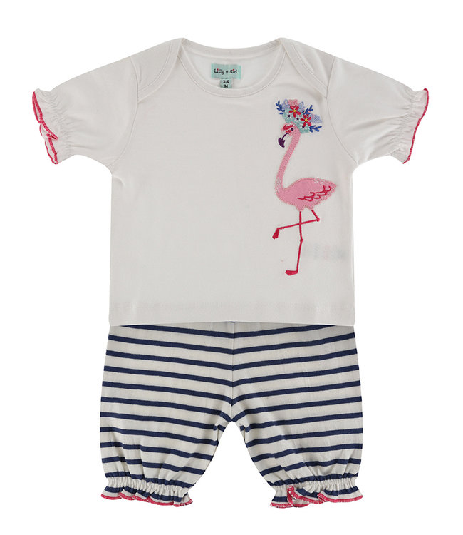 Lilly and Sid Kleinkinder Set Flamingo