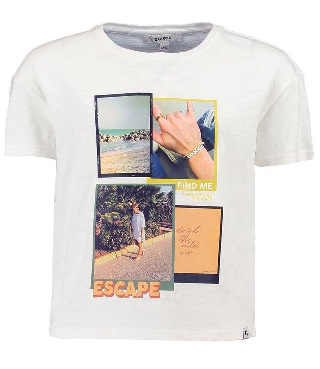Garcia Mädchen Shirt weiss