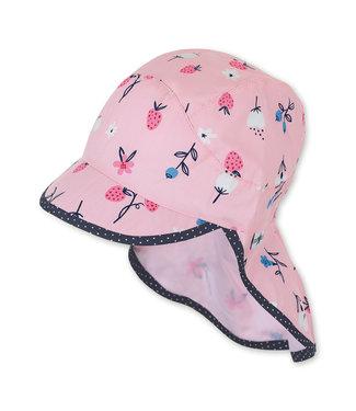 Sterntaler Mädchen Schirmmütze mit Nackenschutz Blumen rosa
