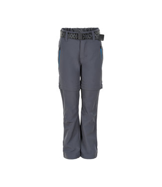 Color Kids Zip off- Outdoorhose Kanyon steel