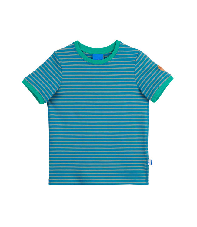 Finkid Renkaat Kinder T-Shirt seaport/trellis