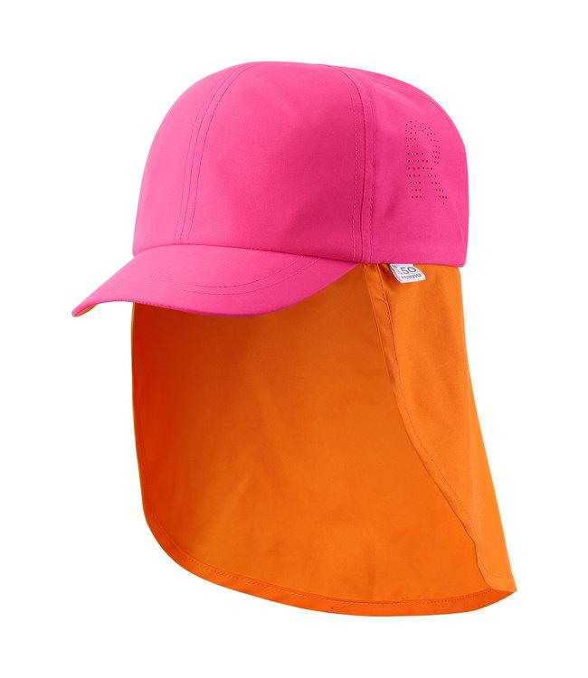 Reima Kinder Sonnenschutz Hut Tropisk berry pink