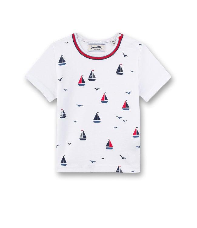 Sanetta Fiftyseven Baby Jungen T-Shirt Segelschiff