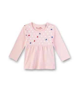 Sanetta Fiftyseven Baby Mädchen-Shirt langarm rosa