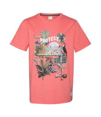Protest Jungen T-shirt Cassius deep coral