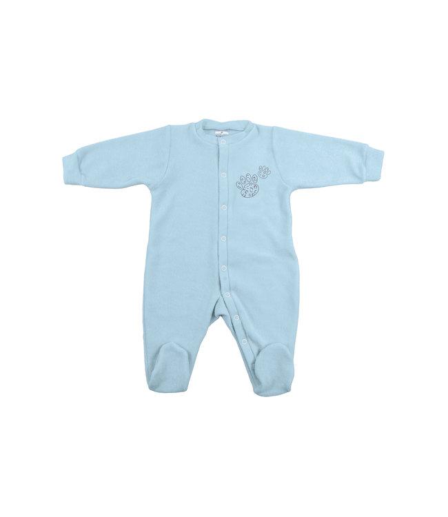 Zewi bébé-jou Baby Kombi Frottée-Strech blue Leopard