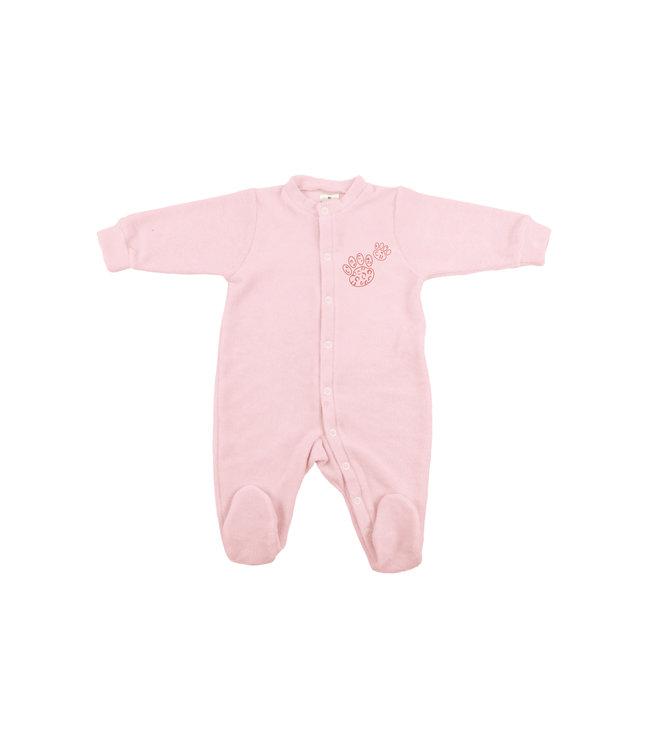 Zewi bébé-jou Baby Kombi Frottée-Strech pink Leopard