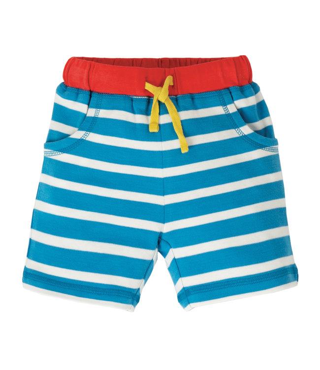 Frugi Kleinkinder Shorts little Stripy blue